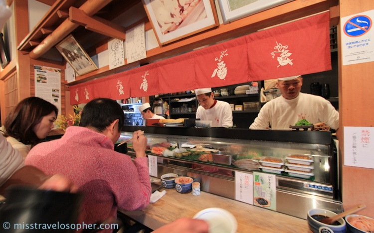 Best sushi in osaka s fish market endo sushi for Wholesale fish market near me