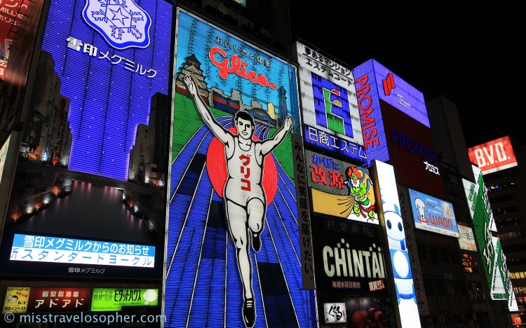 The famous Glico Man near Shinsaibashi / Dohtonbori