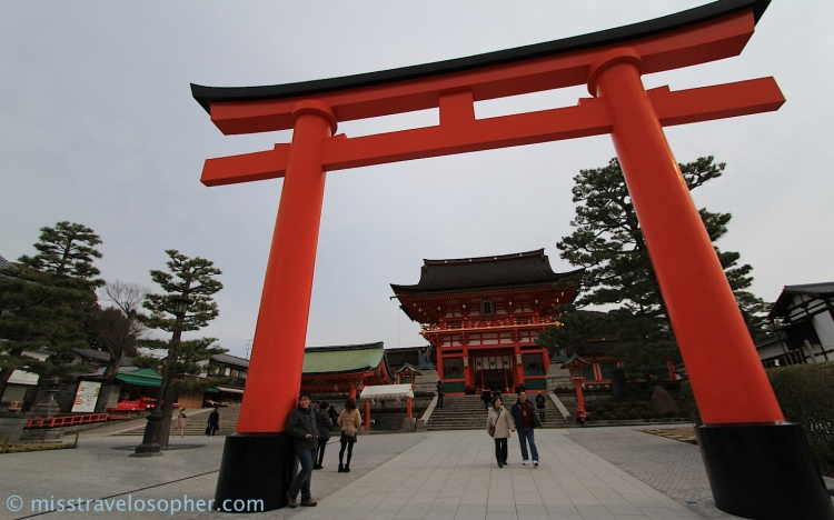 Torii Gate: Entrance to a Shinto shrine (Fushimi Inari Taisha, Kyoto)