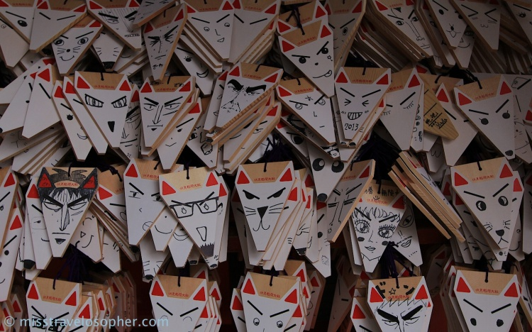 I love this - creativity at it's best! (Fushimi Inari Taisha, Kyoto)