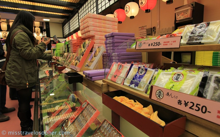 Various flavors of Yatsuhashi (八ツ橋), a famous Kyoto confectionery