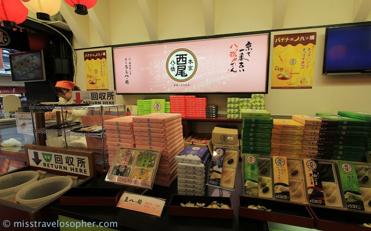 Shop specialized in selling Yatsuhashi