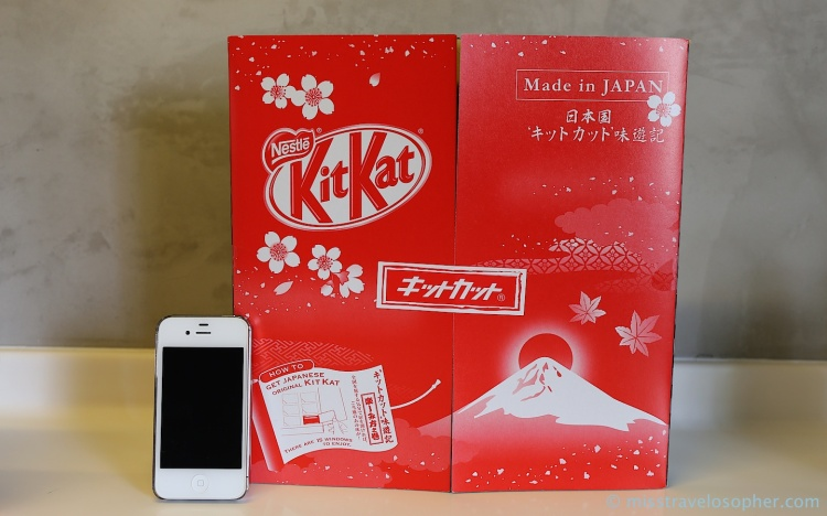 The bumper box of Kit Kat with 15 flavors exclusive to various regions of Japan
