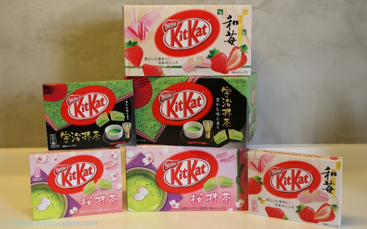 From top: Wa-Ichigo (Strawberry), Uji Matcha and Sakura Matcha (seasonal flavor)