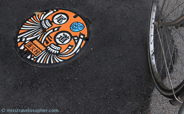 Colourful manhole cover
