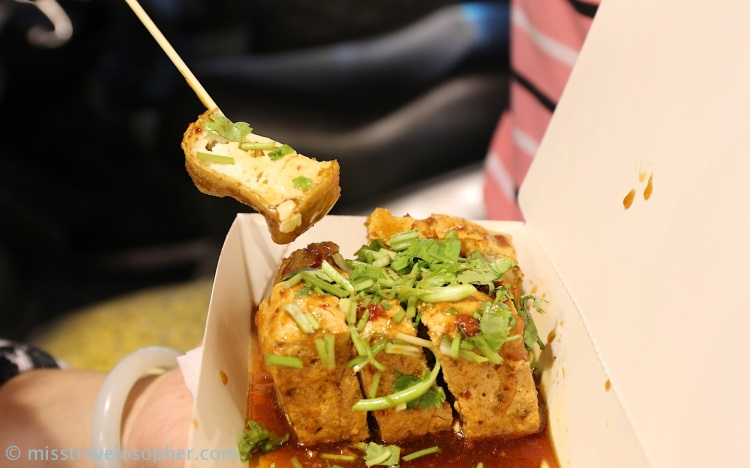 The legendary stinky tofu!! Fried and sauced up with a topping of chinese parsley