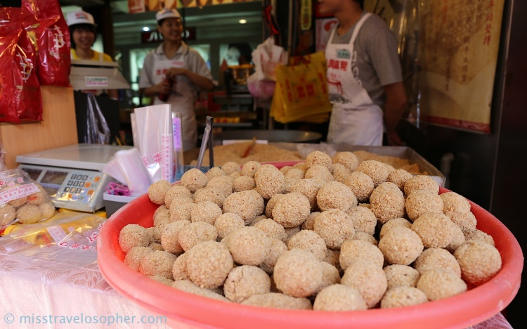 Local snack (ma lao 麻粩) from Jin Xing Ma Lao (金興麻粩) stall