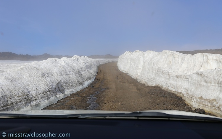 Driving through a glacier! - on Snæfellsnes