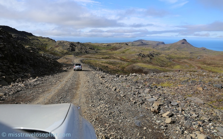Rough roads on a volcano: Drive up to Snæfellsjökull