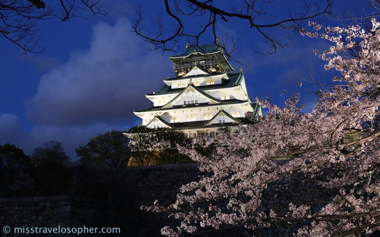 Night illumination of Osaka Castle